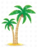 Clipart of Hawaiian Palm Trees