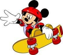 Mickey Mouse skate drawing
