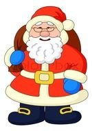 Clip art of Santa Claus With Bag Gifts