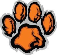 Tiger Paw Clip Art drawing