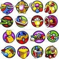Children Not Sharing Toys Clipart Childrens Vector Set 3