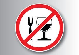 No Food Or Drink as a Sign