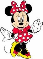 Colorful Minnie Mouse clipart