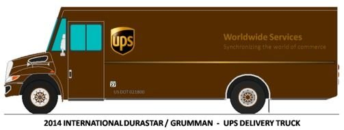 clipart of the UPS Delivery Truck