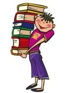 Schoolbooks Clip Art drawing