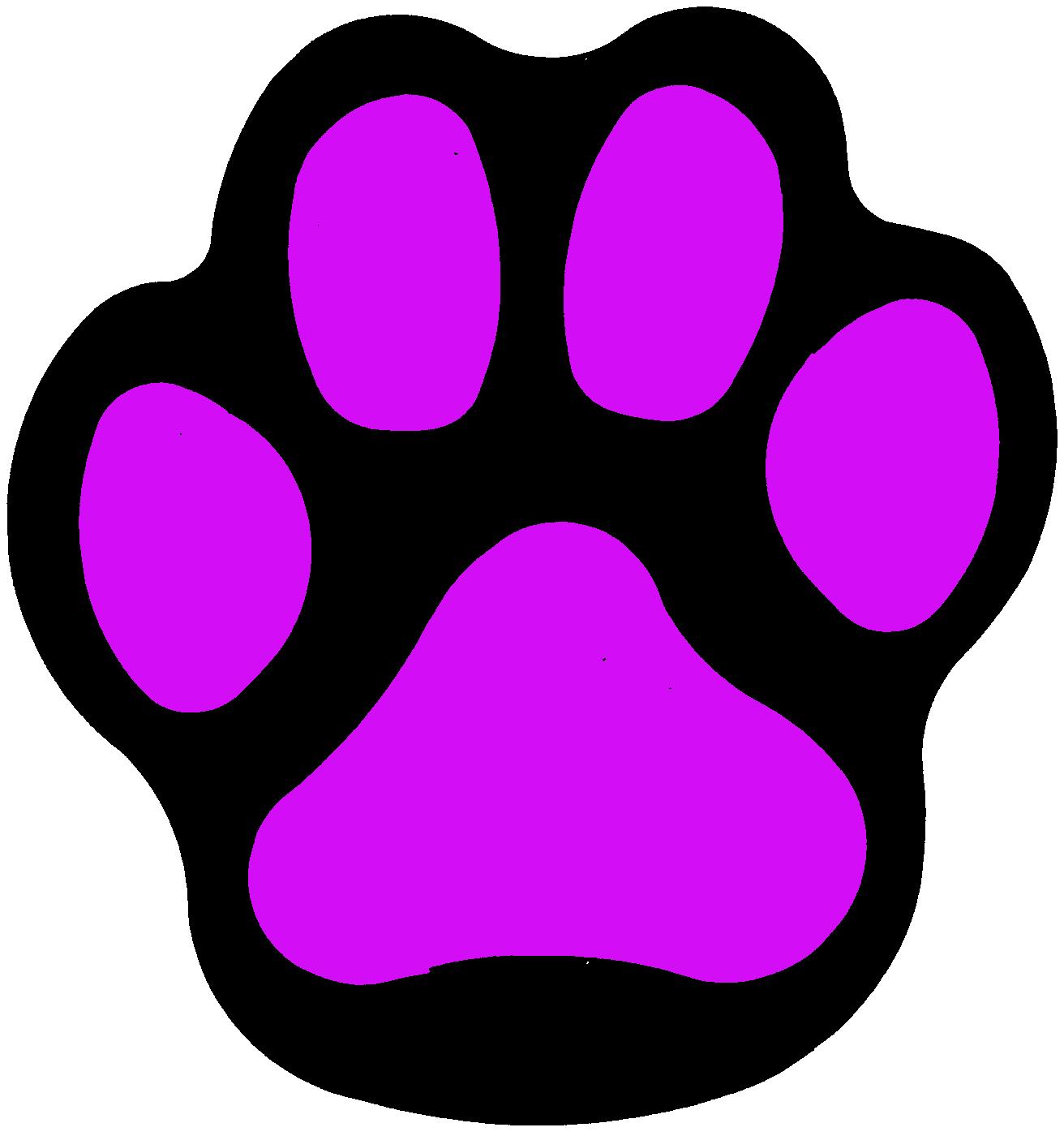 purple bobcat paw print clip art free image rh pixy org Wildcat Paw Print Clip Art Bobcat Paw Print Borders