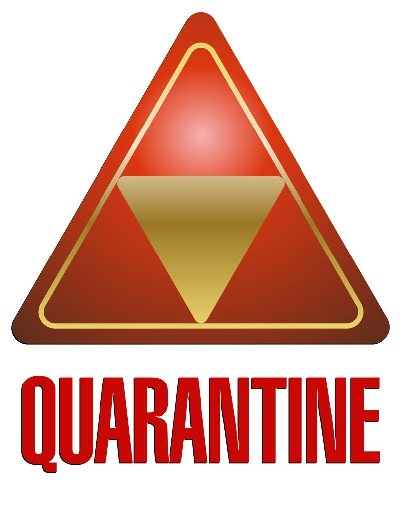 image about Quarantine Sign Printable called Quarantine Signs or symptoms Printable free of charge impression