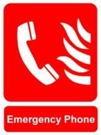 Emergency Phone Sign drawing
