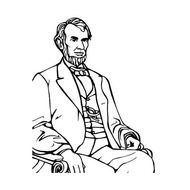 Abraham Lincoln Coloring Clip Art