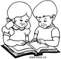 Child Reading Bible Clip Art N2