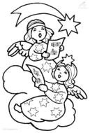 clipart of the Christmas Angels