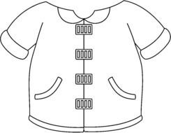 Coat Clip Art Black And White drawing