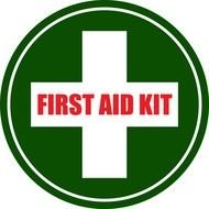 First Aid Kit Sign drawing
