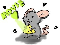 Mouse With Cheese as a graphic illustration