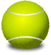 Green tennis ball clipart