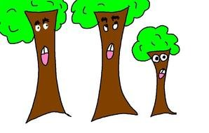 cartoon trees as a graphic illustration