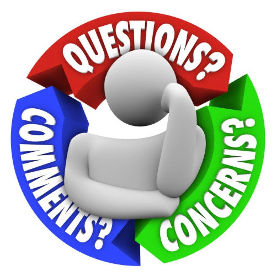 Questions Comments Concerns Clip Art free image