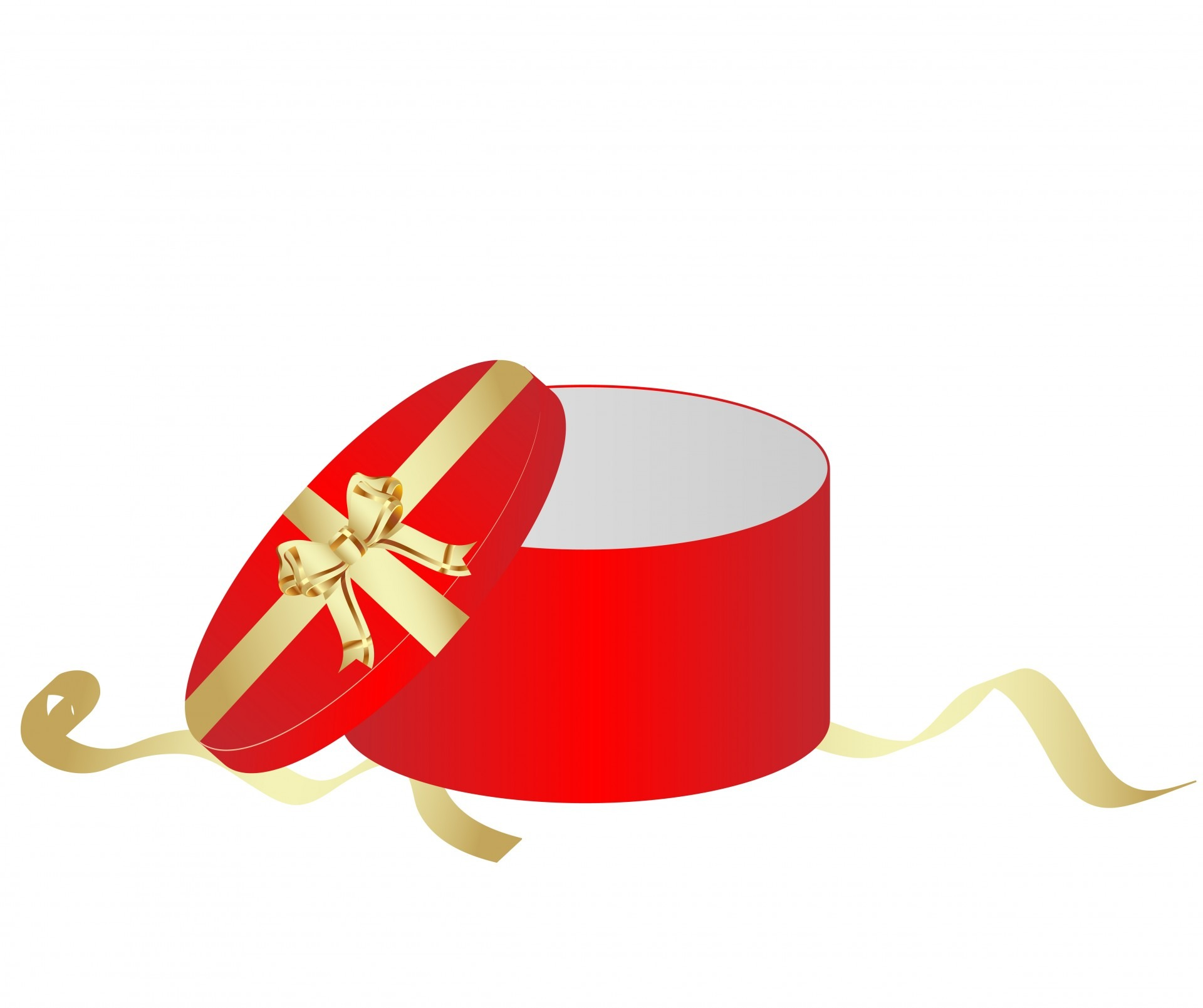 Drawing Of Open Red Gift Box