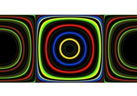 abstract wave pattern colorful light circles lines
