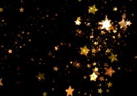 stars on the black background