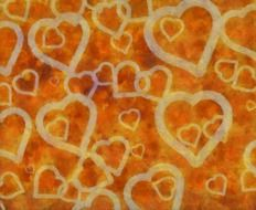 yellow abstract hearts background