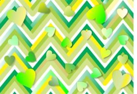 green yellow geometric pattern