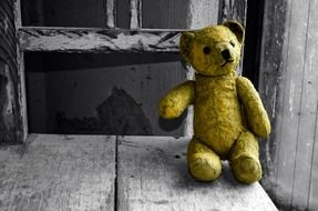 forgotten yellow teddy bear