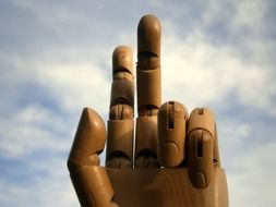 photo of wooden fingers with joints