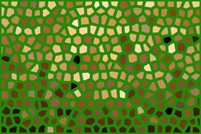 mosaic pattern on a green background