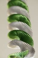 spiral green and white garland