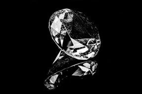 isolated diamond on a black background
