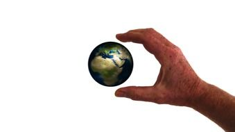 hand keep globe earth world