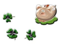 lucky pig four leaf clover