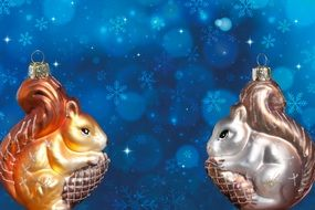 christmas card decorations squirrels