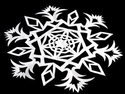 star snowflake silhouette black background