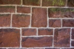 red brick fence