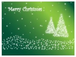 card celebration christmas day green color background