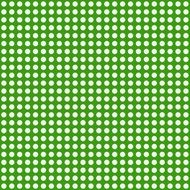 white dotts on a green background