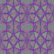 symmetrical purple and green colors in a kaleidoscope