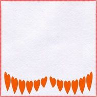 paper with orange hearts
