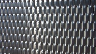 shiny metal grid