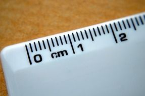 two centimeter meter measure