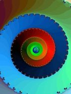 fractal colorful spiral