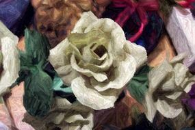 a white rose as a painting element