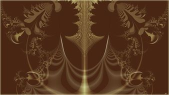 fractal brown yellow pattern