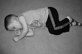 child sleeping lying sleep baby