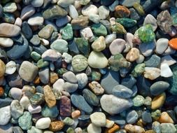 pebbles stone beach colorful color