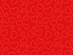 abstract background pattern design hearts red color