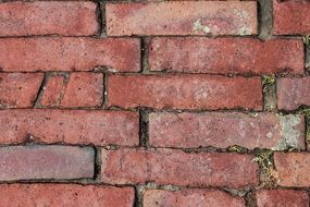 red brick wall stones texture