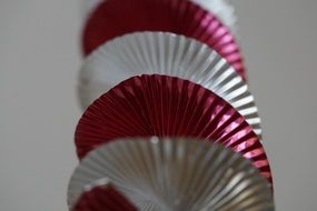 red white spiral garland